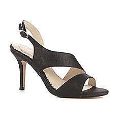 Debut - Black glittery cut-out high sandals