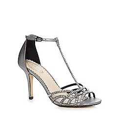 Debut - Silver 'Dion' high stiletto heel T-bar sandals