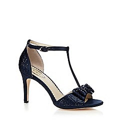 Debut - Navy 'Dorthy' diamante T-bar high heeled sandal