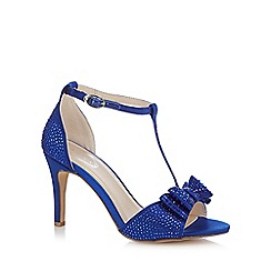 Debut - Blue 'Dorothy' diamante T-bar high heeled sandals