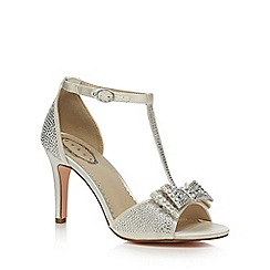 Debut - Ivory 'Dorothy' high stiletto heel T-bar sandals