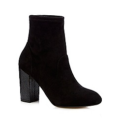 Red Herring - Black high textured ankle boots