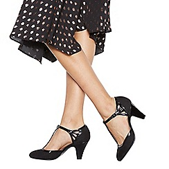 Good for the Sole - Black patent  Glad  high heel wide fit T-bar shoes