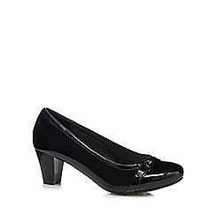 Good for the Sole - Black buckle detail wide fit high court shoes