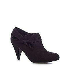 Good for the Sole - Black bow applique wide fit high boots