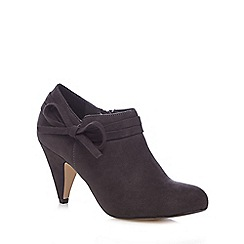 Good for the Sole - Dark grey bow applique wide fit high boots