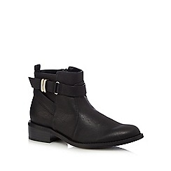 Good for the Sole - Black strapped wide fit ankle boots