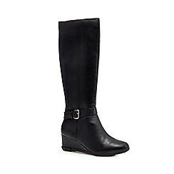 Good for the Sole - Black wedge heel boots