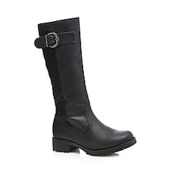 Good for the Sole - Black quilted calf boots