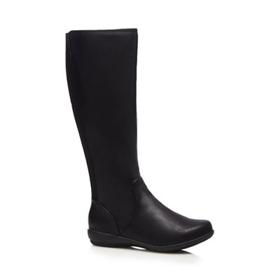 for the sole black wide fit knee high boots debenhams