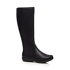 Good for the Sole - Black flat wide fit knee high boots