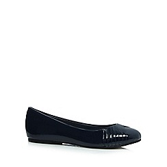 Good for the Sole - Navy patent wide fit slip-on shoes