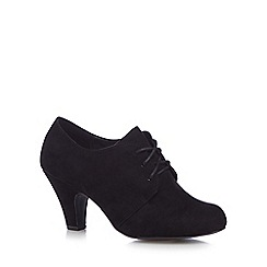 Good for the Sole - Black lace up wide fit high ankle boots