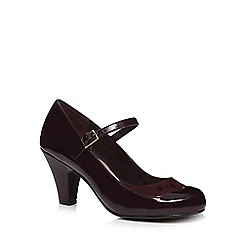 Good for the Sole - Dark purple patent wide fit court shoes