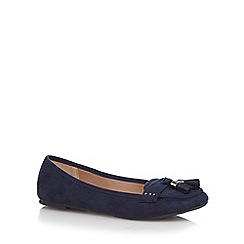 Mantaray - Navy tasselled slip-on shoes