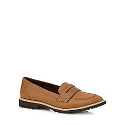 Mantaray - Tan stitched loafers