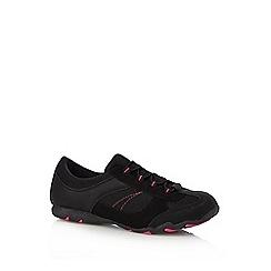 Mantaray - Black mesh lace up shoes