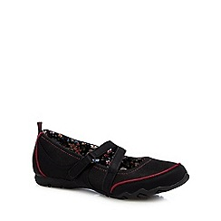 Mantaray - Black floral lined flat shoes