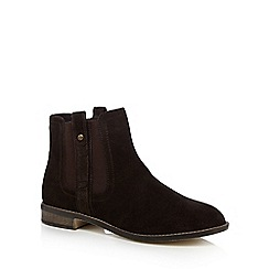 Mantaray - Dark brown suede Chelsea boots