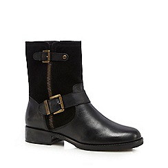 Mantaray - Black 'Mavis' biker boots