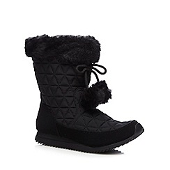 Mantaray - Black quilted ankle boots