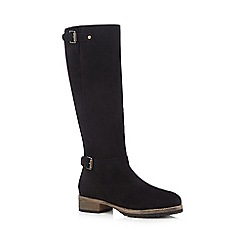 Mantaray - Black suede knee high boots