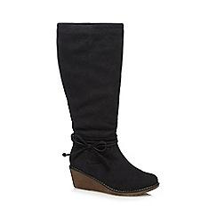 Mantaray - Black buckle boots