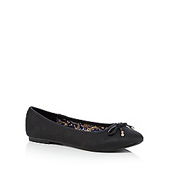 Mantaray - Black casual embossed bow ballet pump