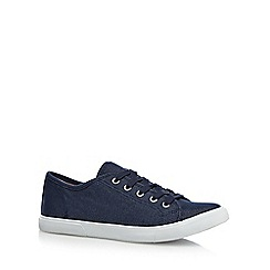 Mantaray - Navy textured lace up shoes