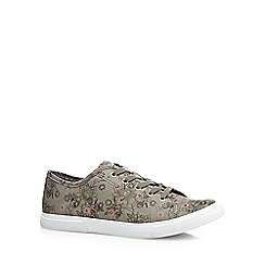 Mantaray - Grey floral print trainers