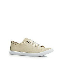 Mantaray - Gold textured lace up shoes