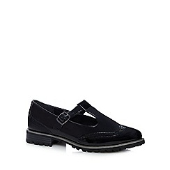 Red Herring - Black patent brogue detail shoes