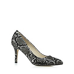 Red Herring - Grey snakeskin-effect high court shoes