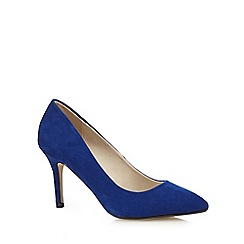 Red Herring - Blue textured pointed high court shoes