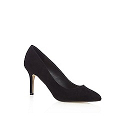 Red Herring - Black textured pointed high court shoes