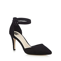 The Collection - Black ankle strap high court shoes