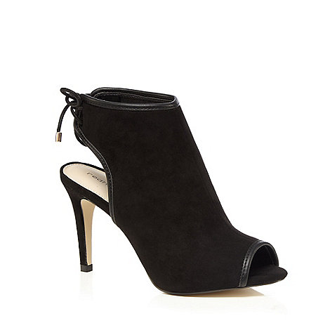 herring black suedette high stiletto heel peep toe