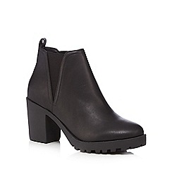 Red Herring - Black block heel Chelsea boots