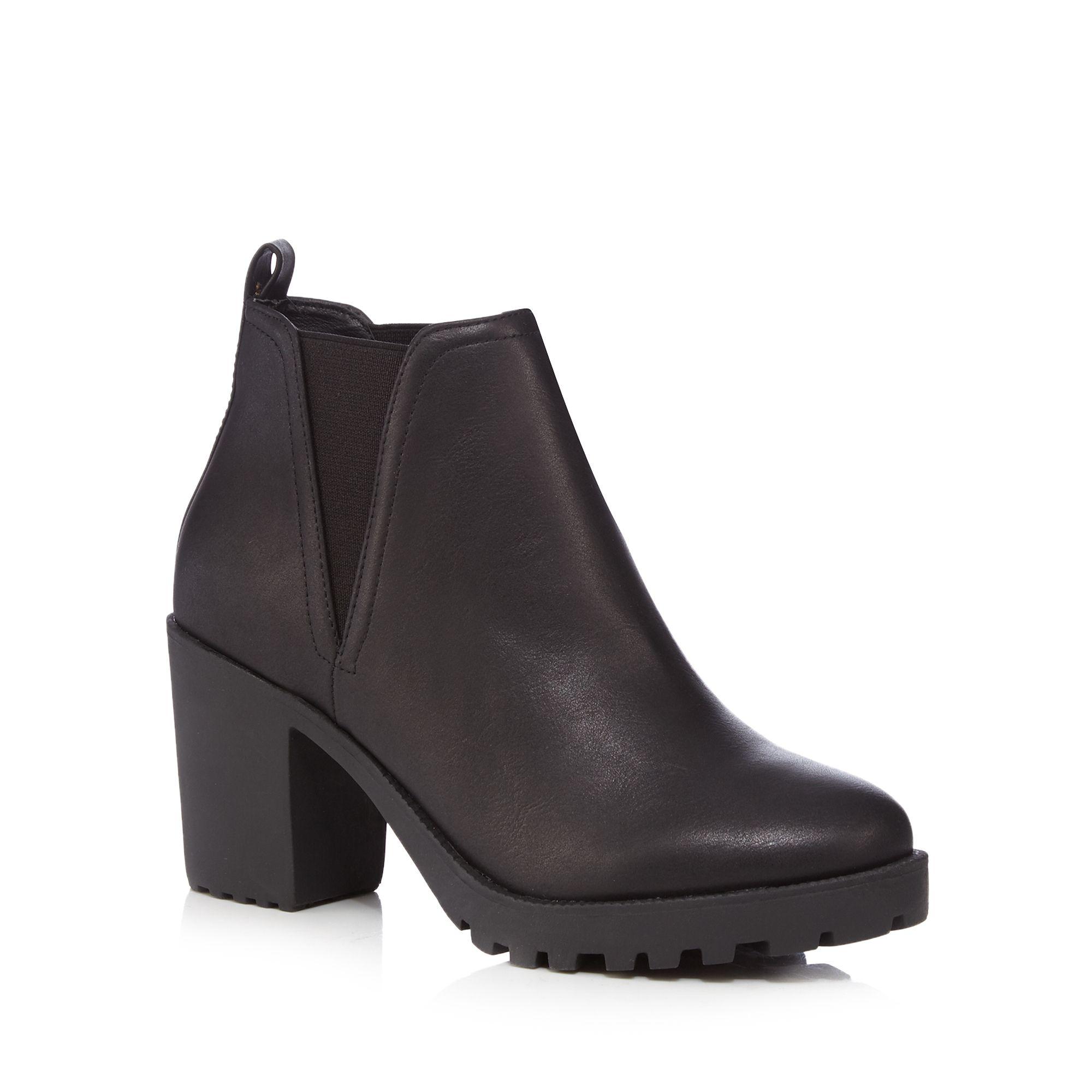 herring womens black block heel chelsea boots from