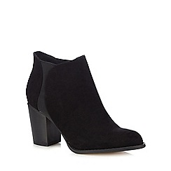 Red Herring - Black textured high heel Chelsea boots