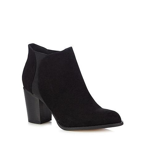 Red Herring - Black textured high heel Chelsea boots