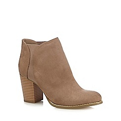 Red Herring - Tan textured high heel Chelsea boots