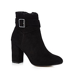 Red Herring - Black buckle high ankle boots