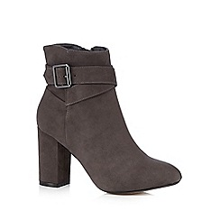 Red Herring - Grey buckle high ankle boots