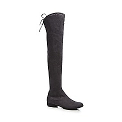 Red Herring - Grey over the knee boots
