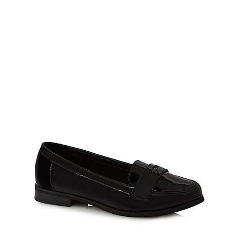 Red Herring - Black patent wide fit loafers