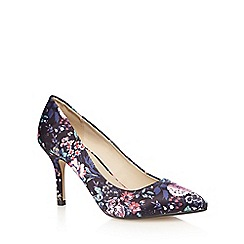 Red Herring - Navy floral print wide fit high court shoes