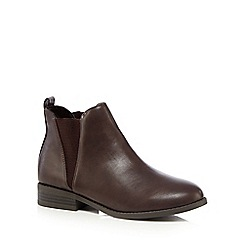 Red Herring - Brown slip-on ankle Chelsea boots