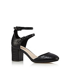 Red Herring - Black high block heel ankle strap sandals