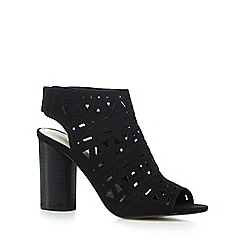 Red Herring - Black cut-out peep toe high sandals